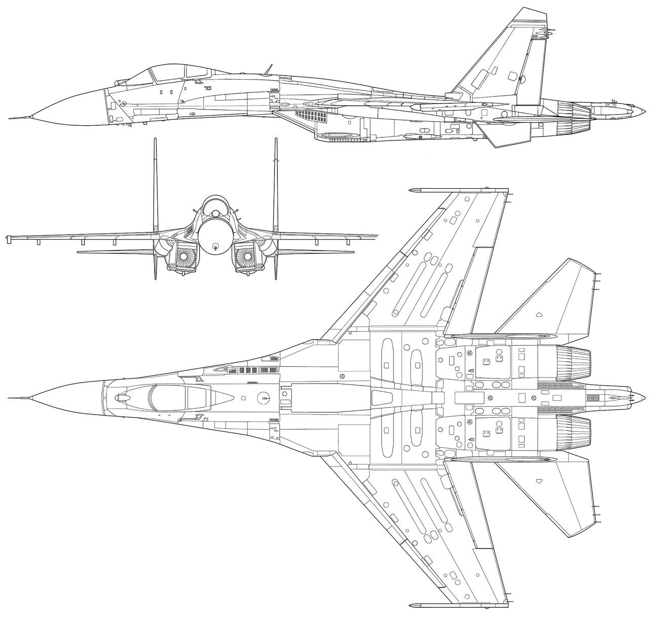 16 - Sukhoi S-55 y S-56 ¿Posible relevo de nuestros F-16? - Página 3 Su-27-drawings_preview