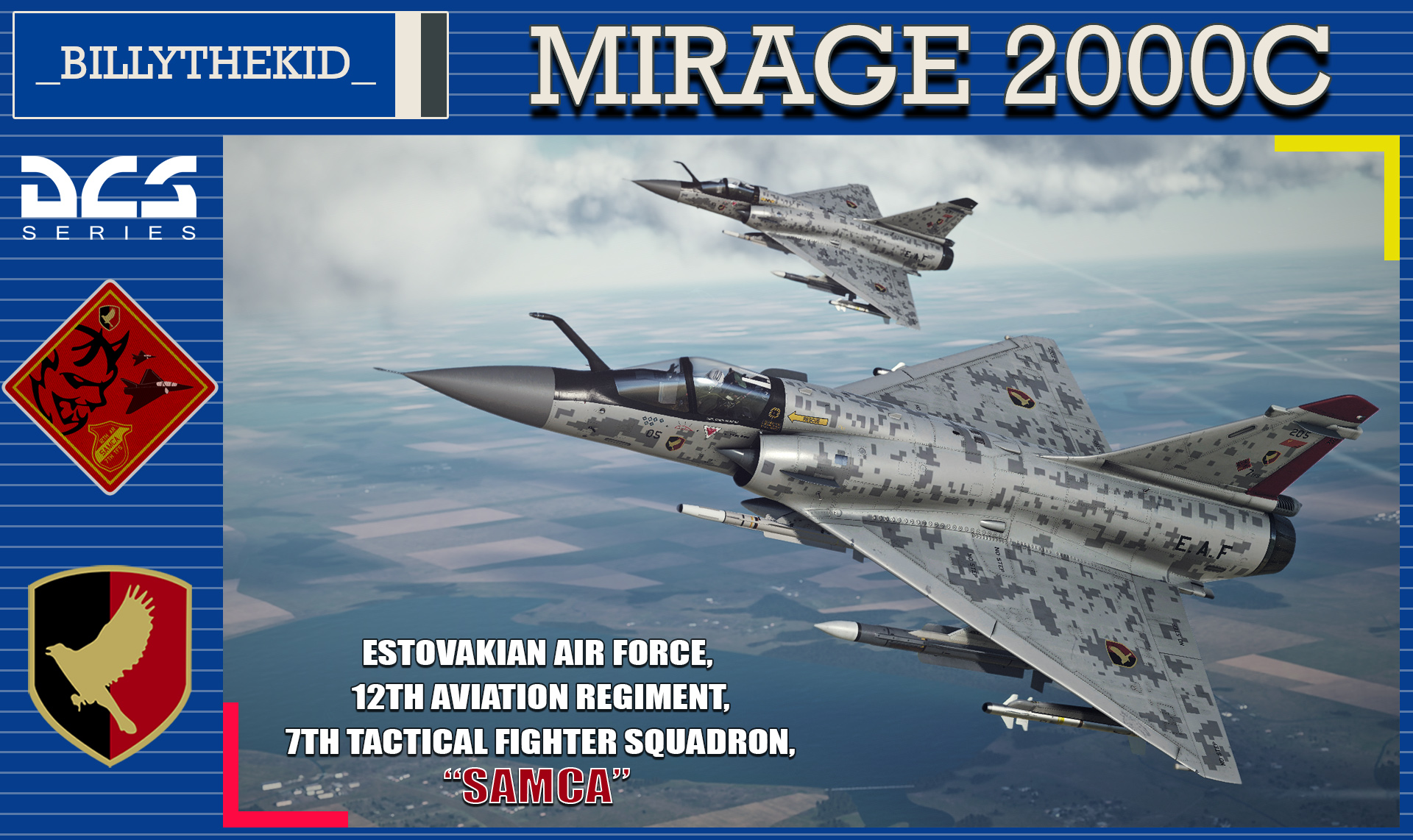 "Ace Combat - Estovakian Air Force 12th Aviation Regiment 7th TFS ""Samca"" Mirage 2000C"
