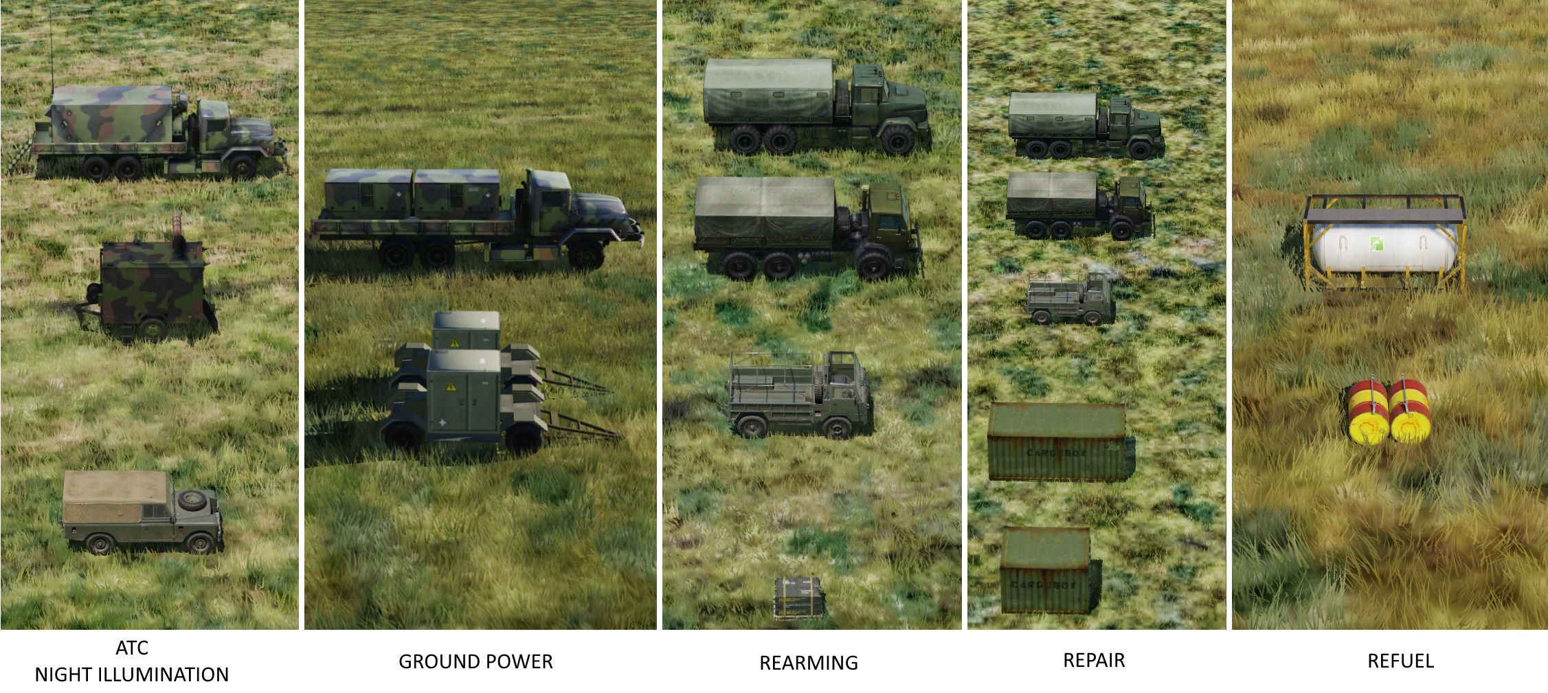 Additional FARP Support Vehicles/objects