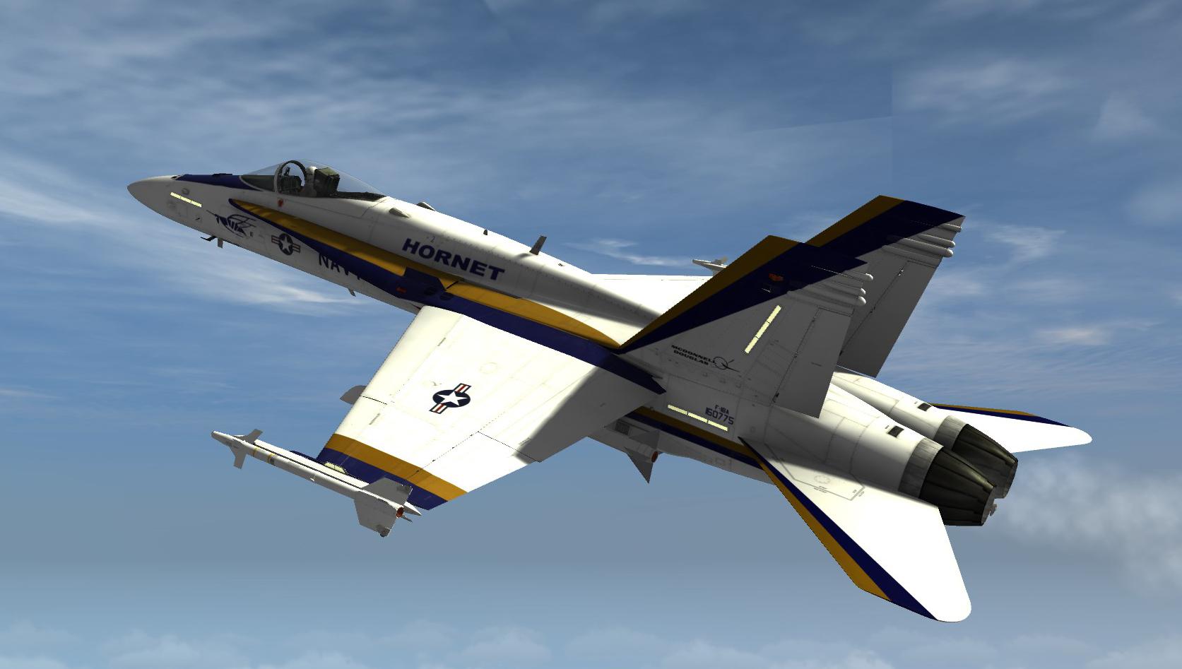 F A 18c Hornet Prototype Rollout Paint Scheme