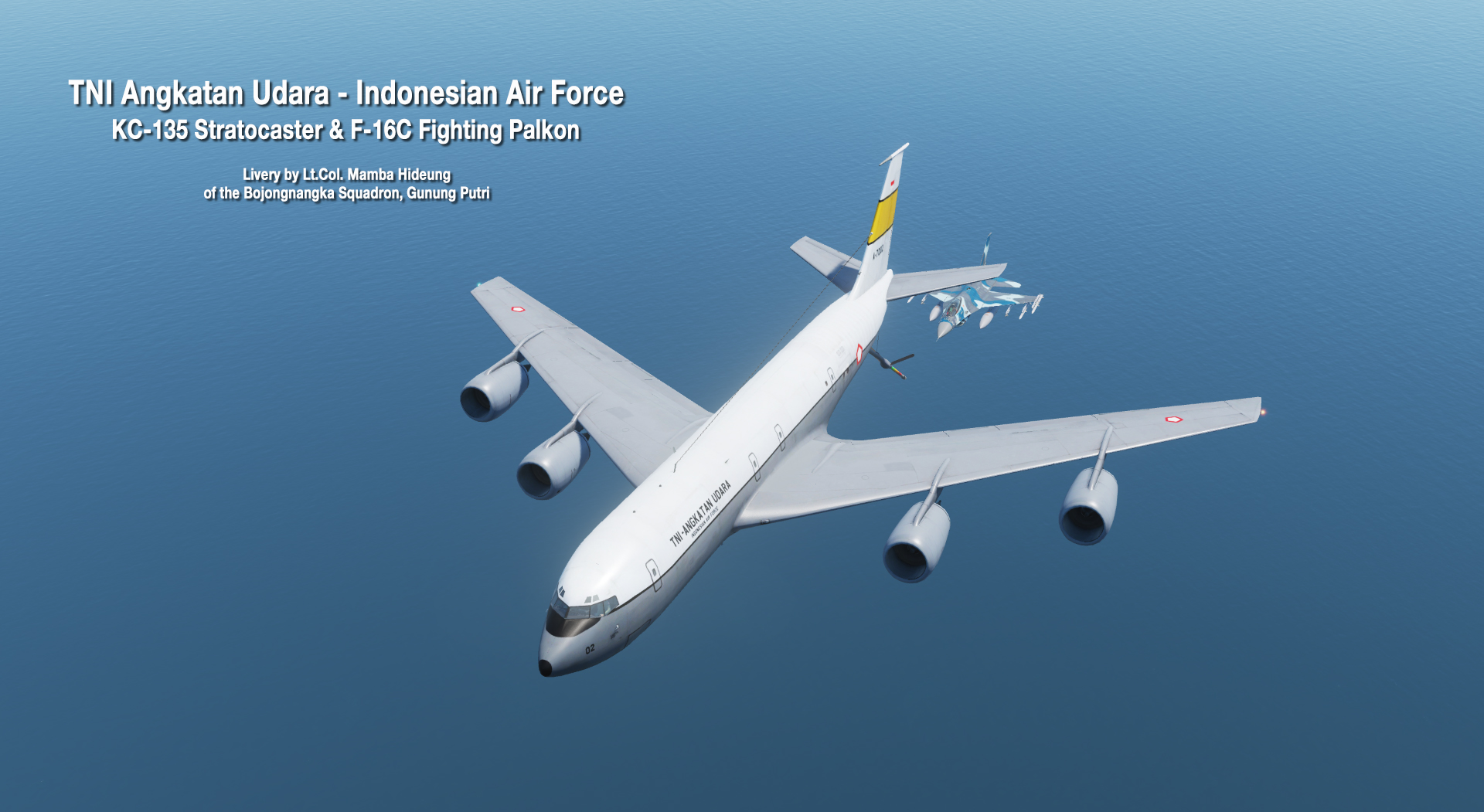 Indonesian Air Force KC-135 Stratotanker and F-16C Fighting Falcon