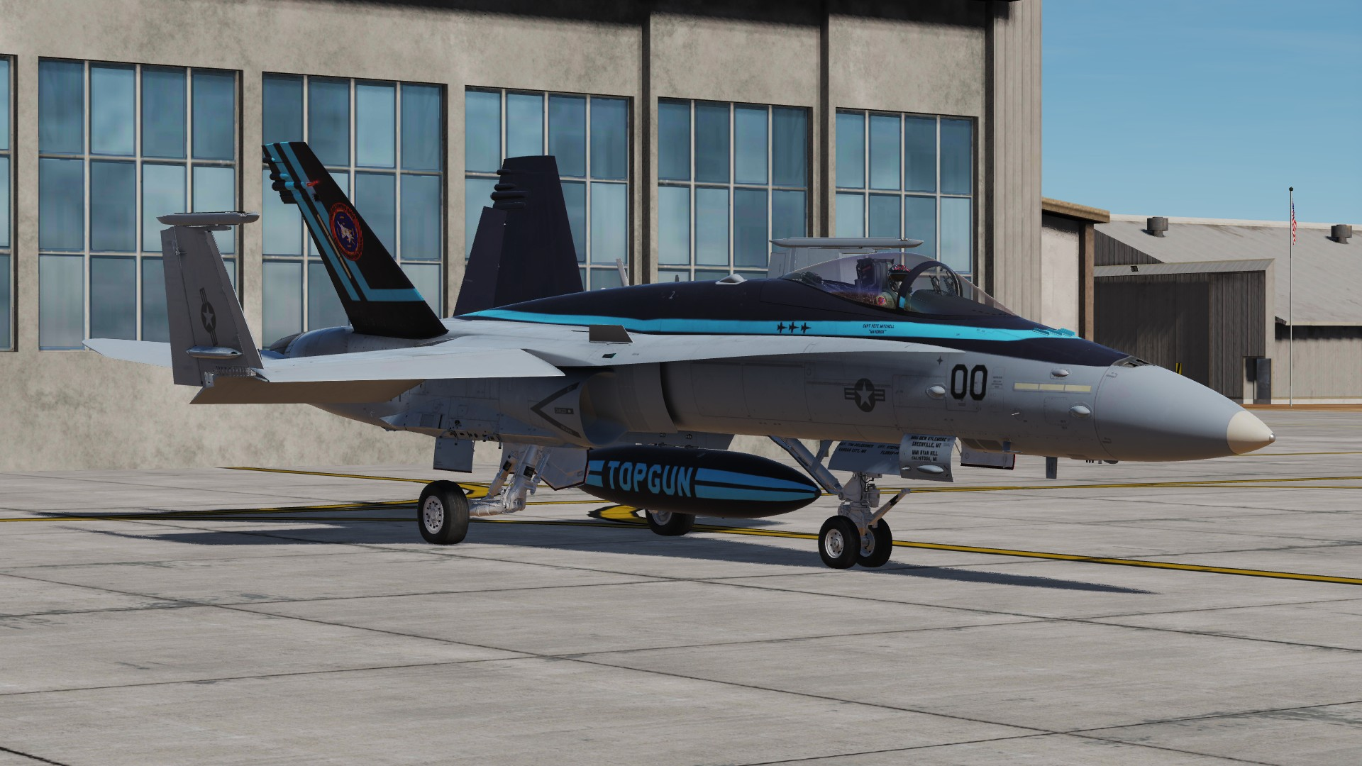 "F/A-18C Lot 20, NFWS ""TOPGUN"", Cpt. Pete ""Maverick"" Mitchell. (Fictional)"
