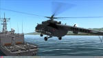 Mi-8 & Uh-1 moving ship landing.