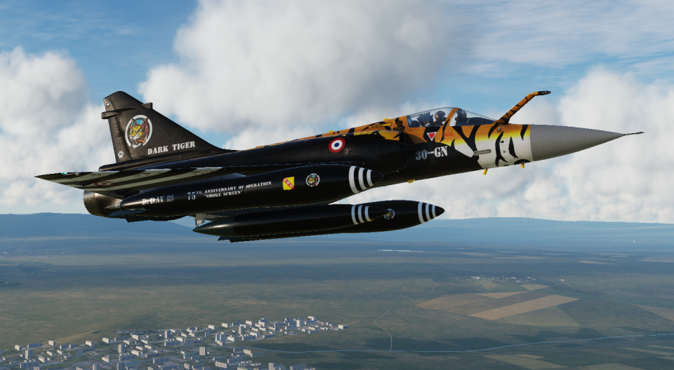 2019 NATO Tiger Meet - Dark Tiger for Mirage 2000 (original paint scheme on a Rafale)