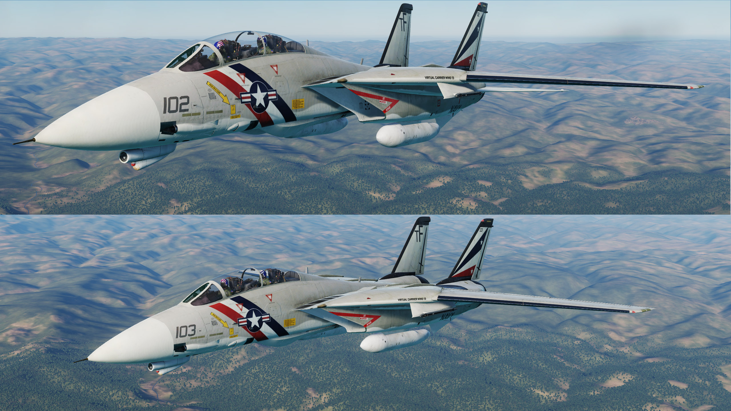Virtual Carrier Wing 13 (VCW13) VF-68 Black Sabers High Visibility Livery Part 2