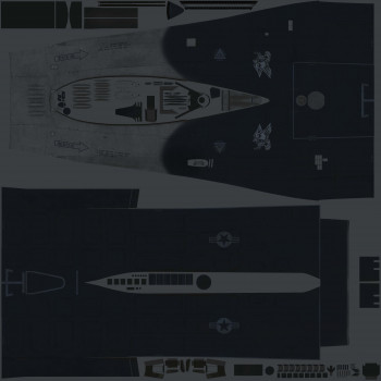 Texture template for F-16C model