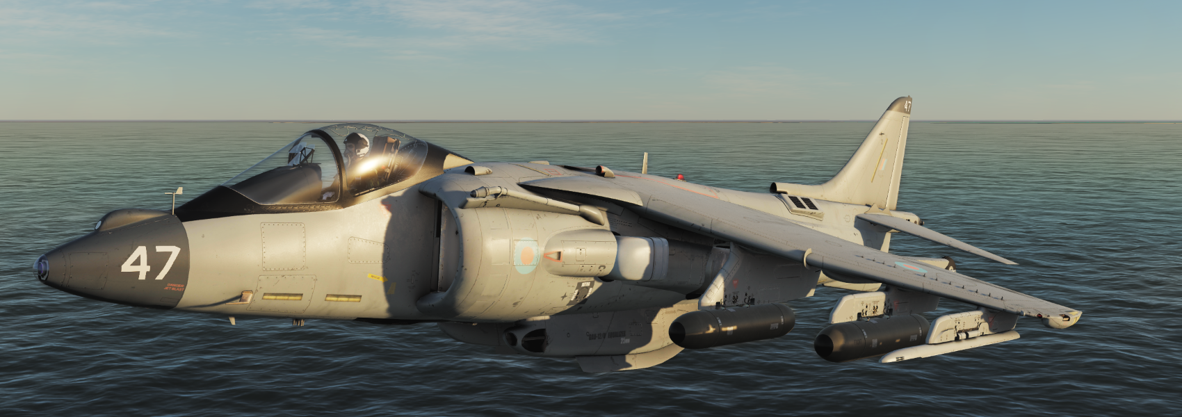 RAF RN Harrier GR Skins [Fictional and Generic] Desert Pink and Grey