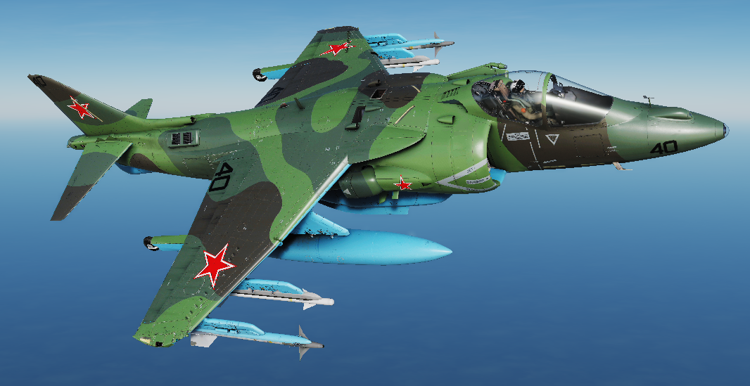 AV-8B Redfor Livery (Soviet or Polish; Fictional)