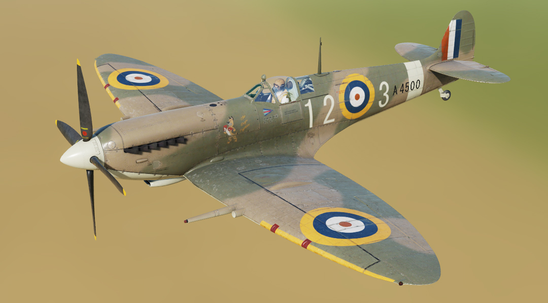 "RAF Spitfire ""The Dogs Fighter"" 92 Squadron"
