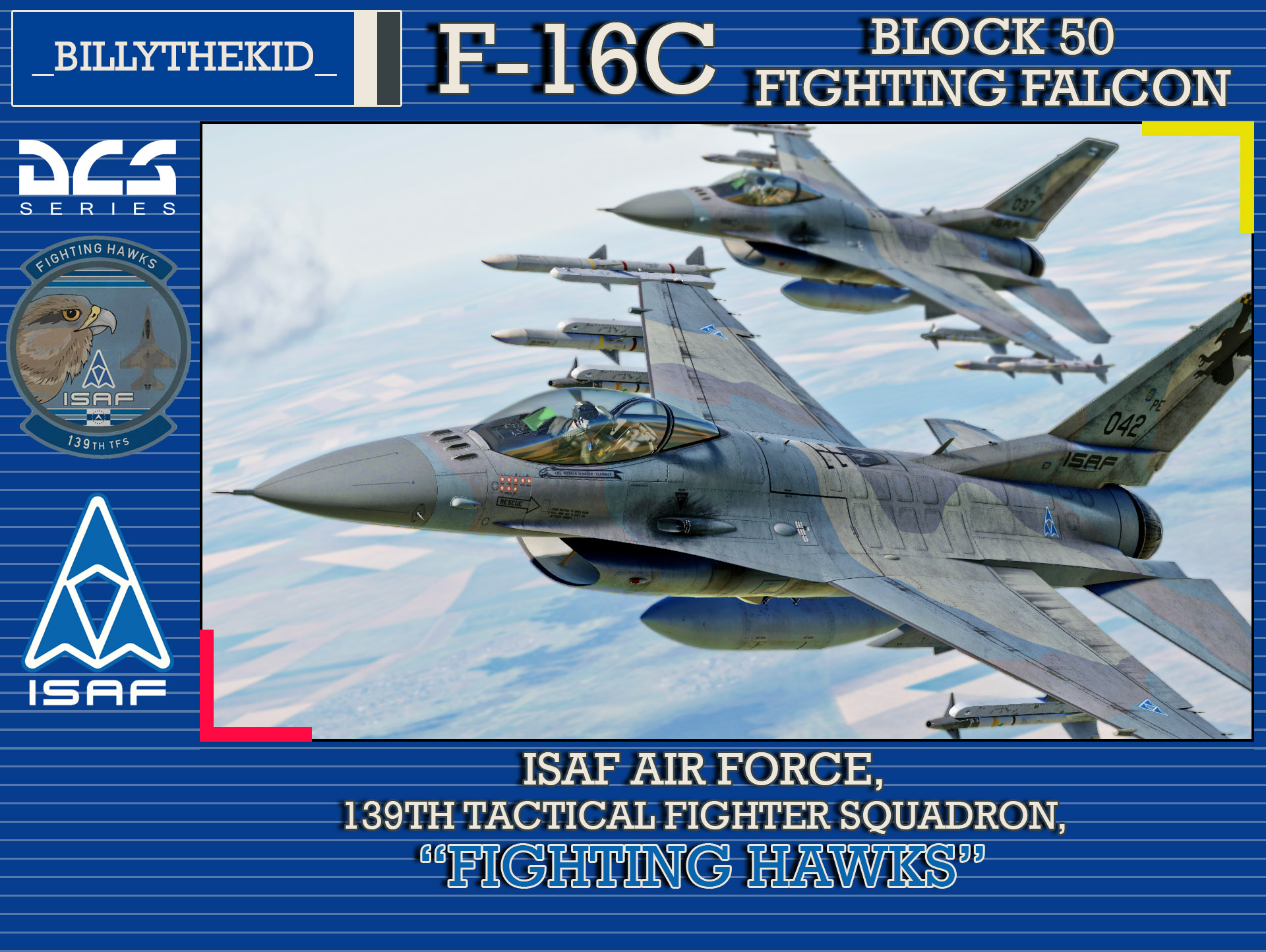 "Ace Combat - ISAF Air Force - 139th Tactical Fighter Squadron ""Fighting Hawks"" F-16C Block 50 Fighting Falcon"