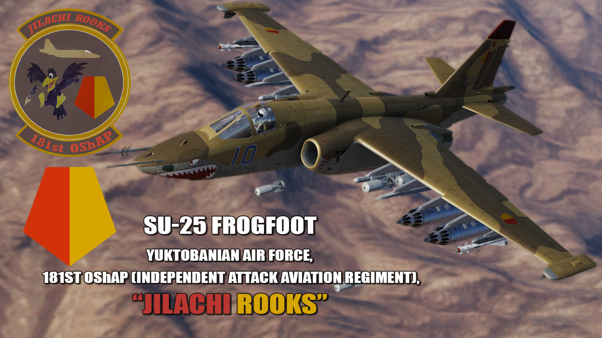 "Ace Combat - Yuktobanian Air Force 181st OShAP (Independent Attack Aviation Regiment) ""Jilachi Rooks"""