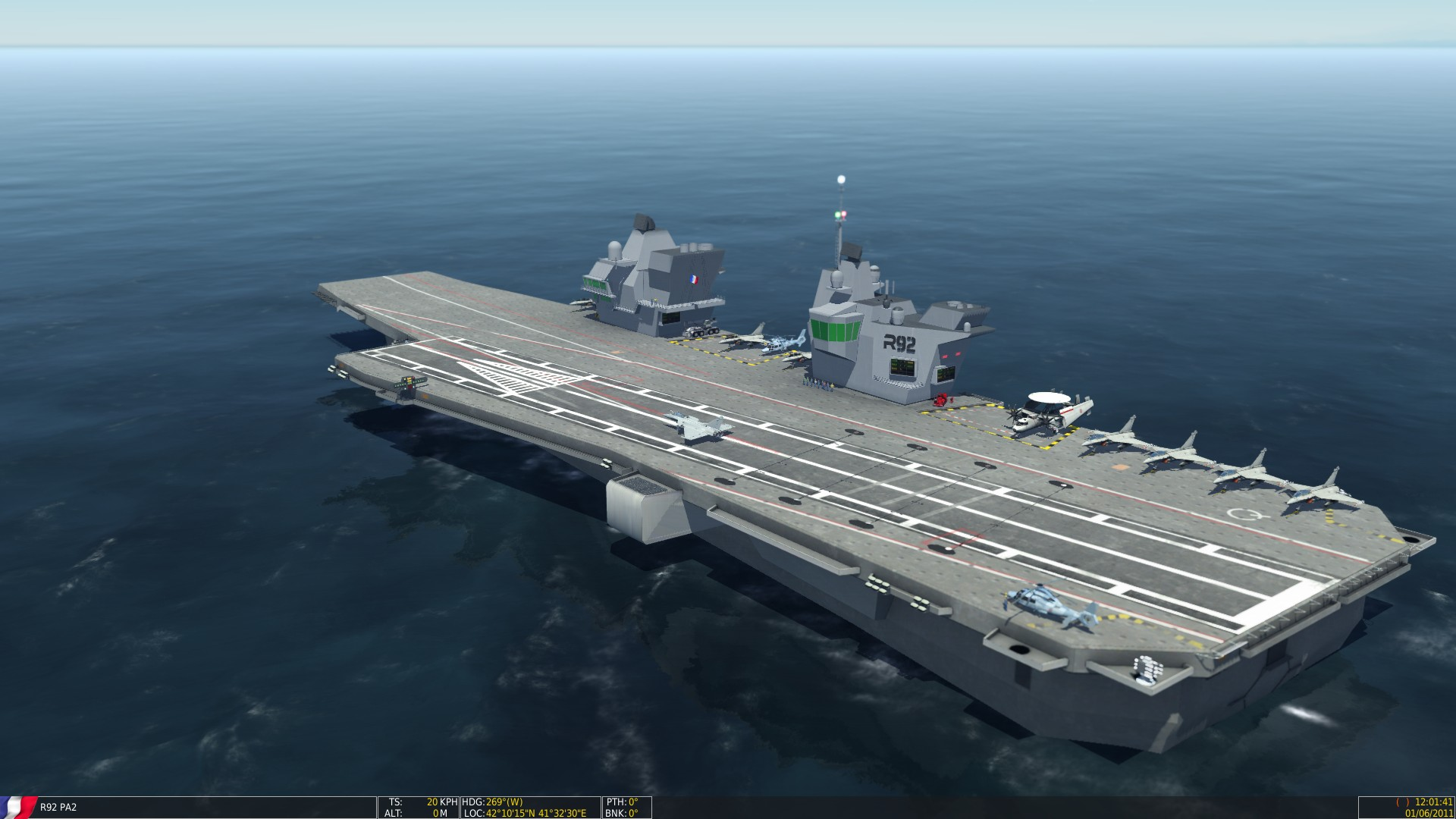 New Version French Aircraft Carrier De Gaulle And Pa2 And