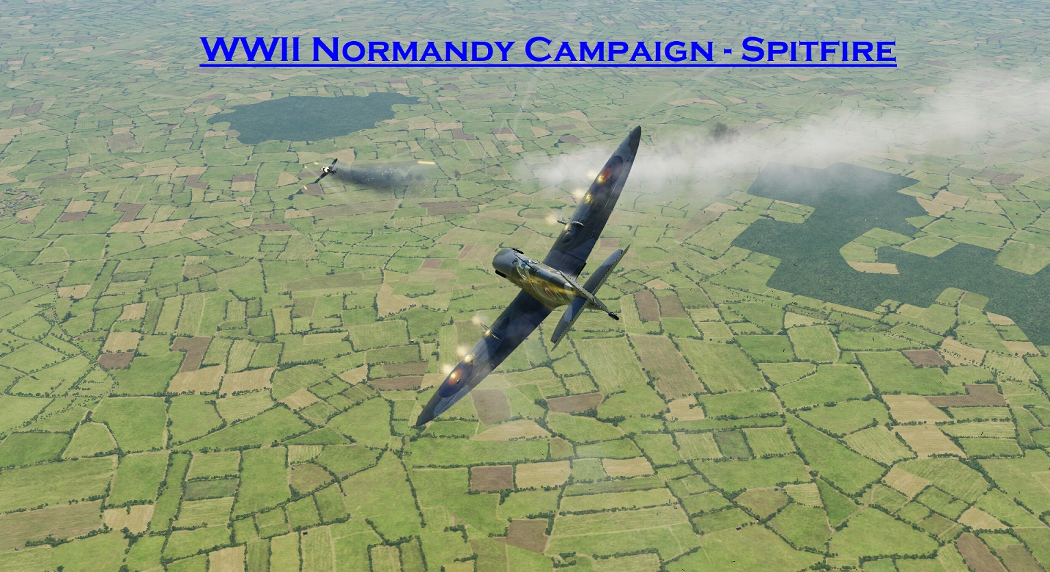 WWII Normandy Spitfire using Mbot Dynamic Campaign Engine