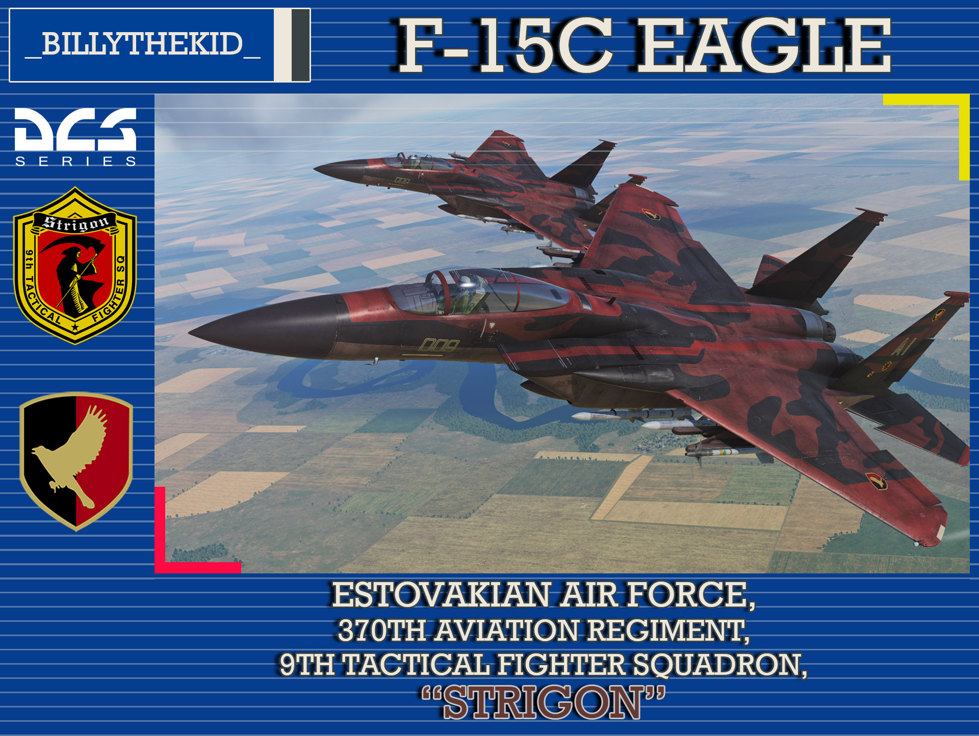 Ace Combat - Estovakian Air Force Strigon Team F-15C Eagle