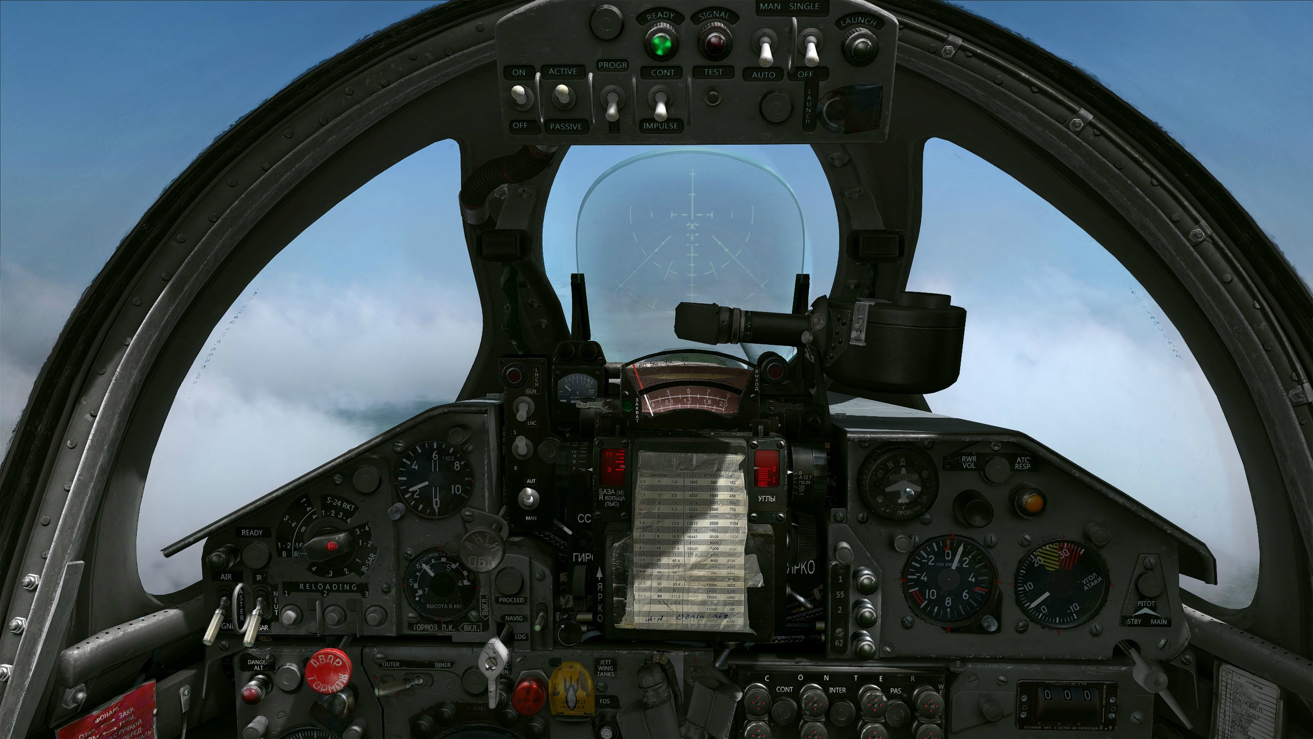 Mig-21 English Gray & Black Cockpit Mods