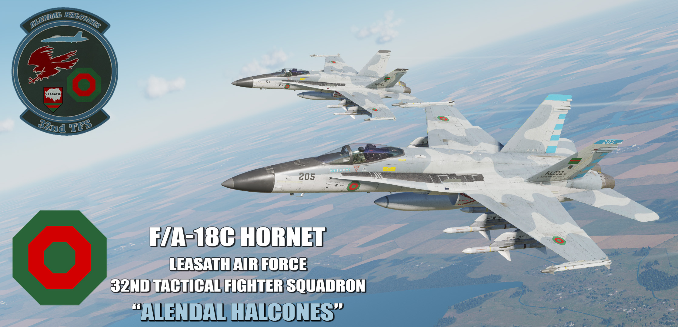 "Ace Combat - Leasath Air Force 32nd T.F.S ""Alendal Halcones"" F/A-18C Hornet"