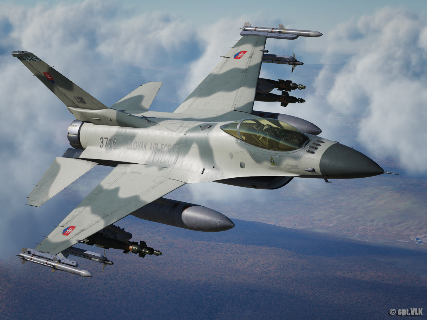 F-16C Slovak Air Force camouflage 3716