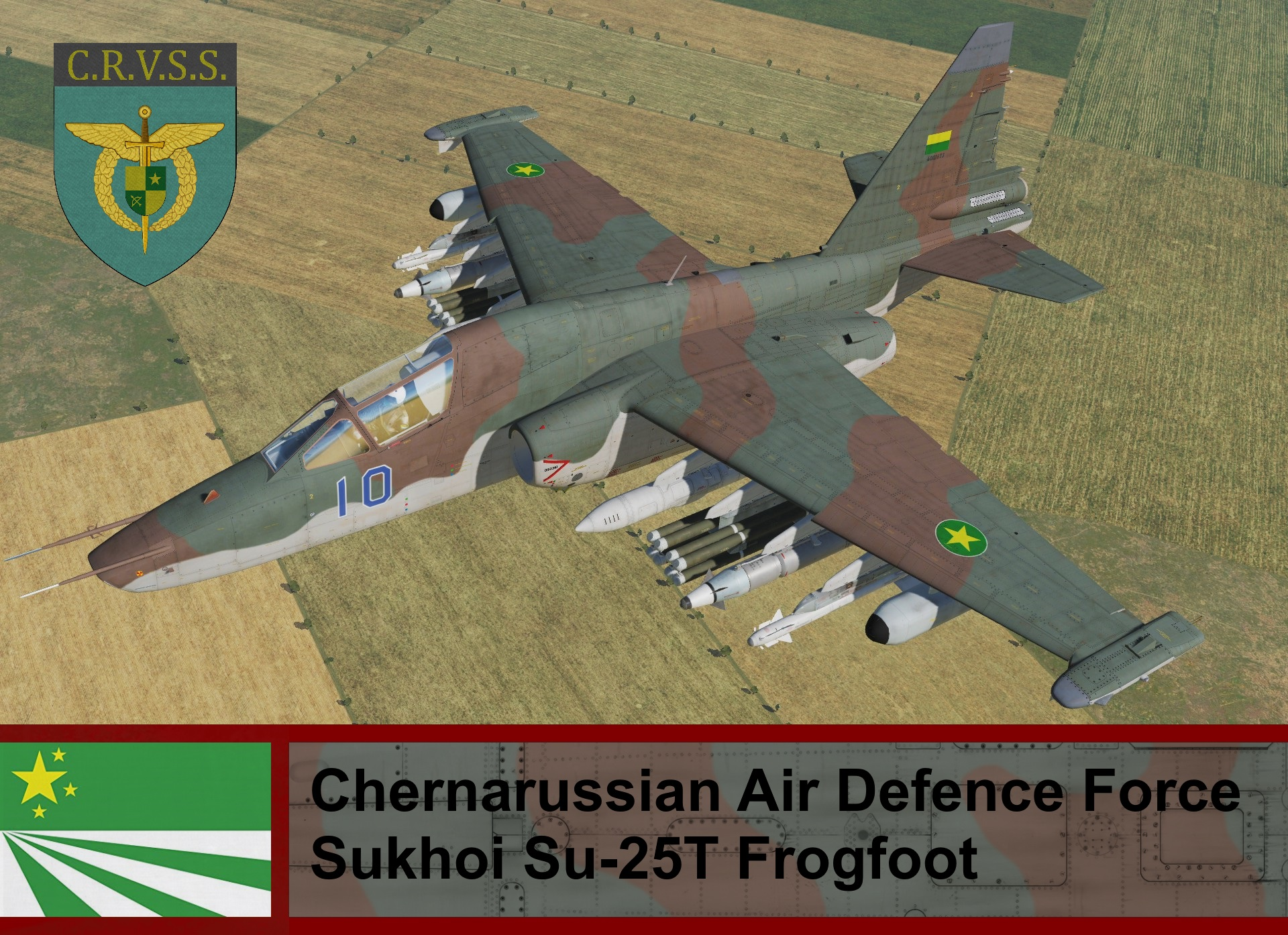 Chernarussian Air Defence Force SU-25T Frogfoot - ArmA II