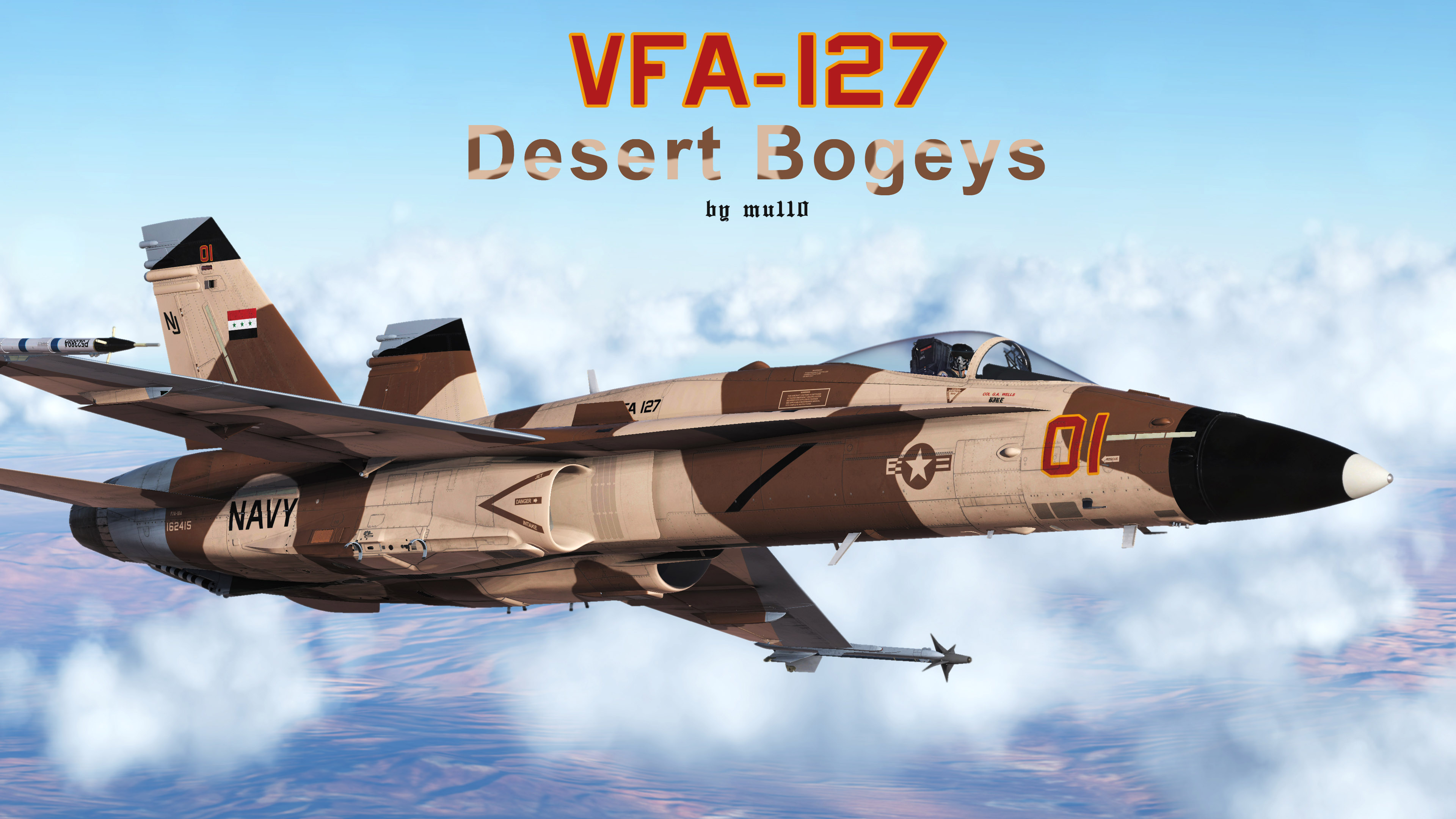 VFA-127 Desert Bogeys Aggressor Liveries for the F/A-18C!
