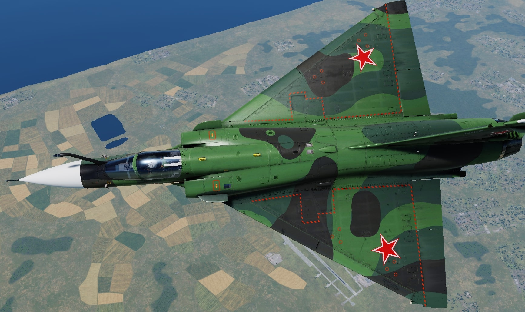 Mirage 2000C Redfor Livery (Soviet or Polish; Fictional)