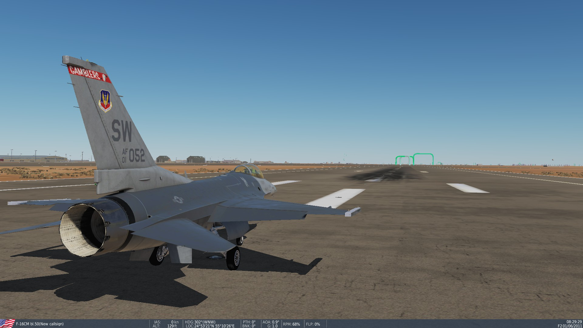 F-16C Persian Gulf Speed/Obstacle/Training course