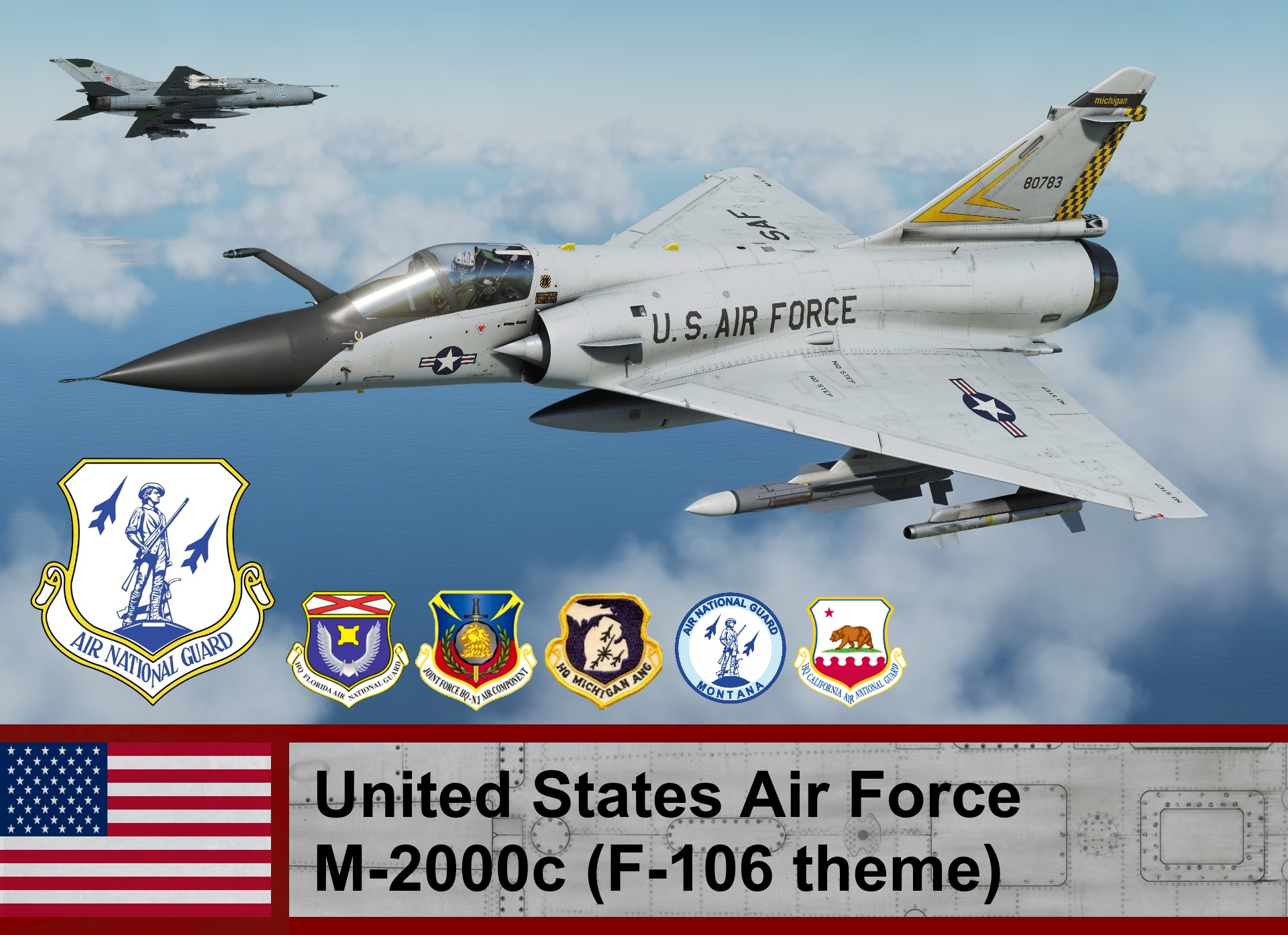 United States Air Force Mirage-2000C / F-106 Delta Dart theme (Fictional)