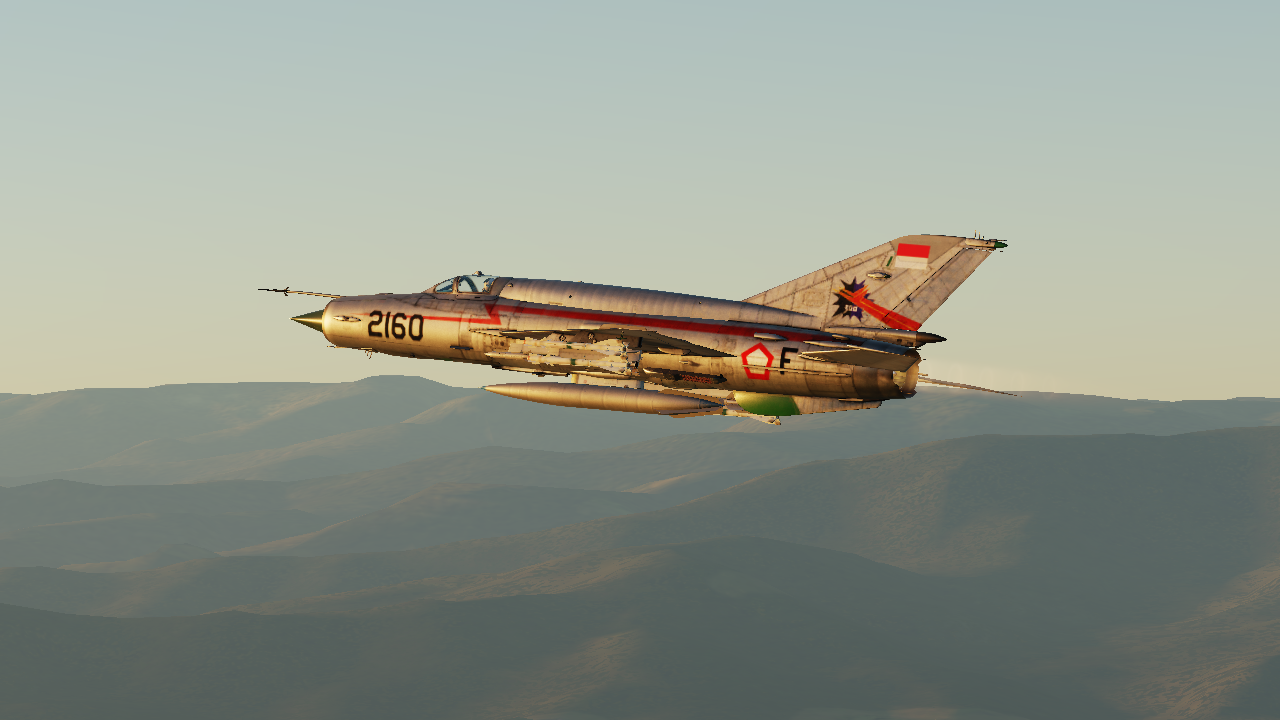 Indonesian Air Force MiG-21 Reg.2160 Livery