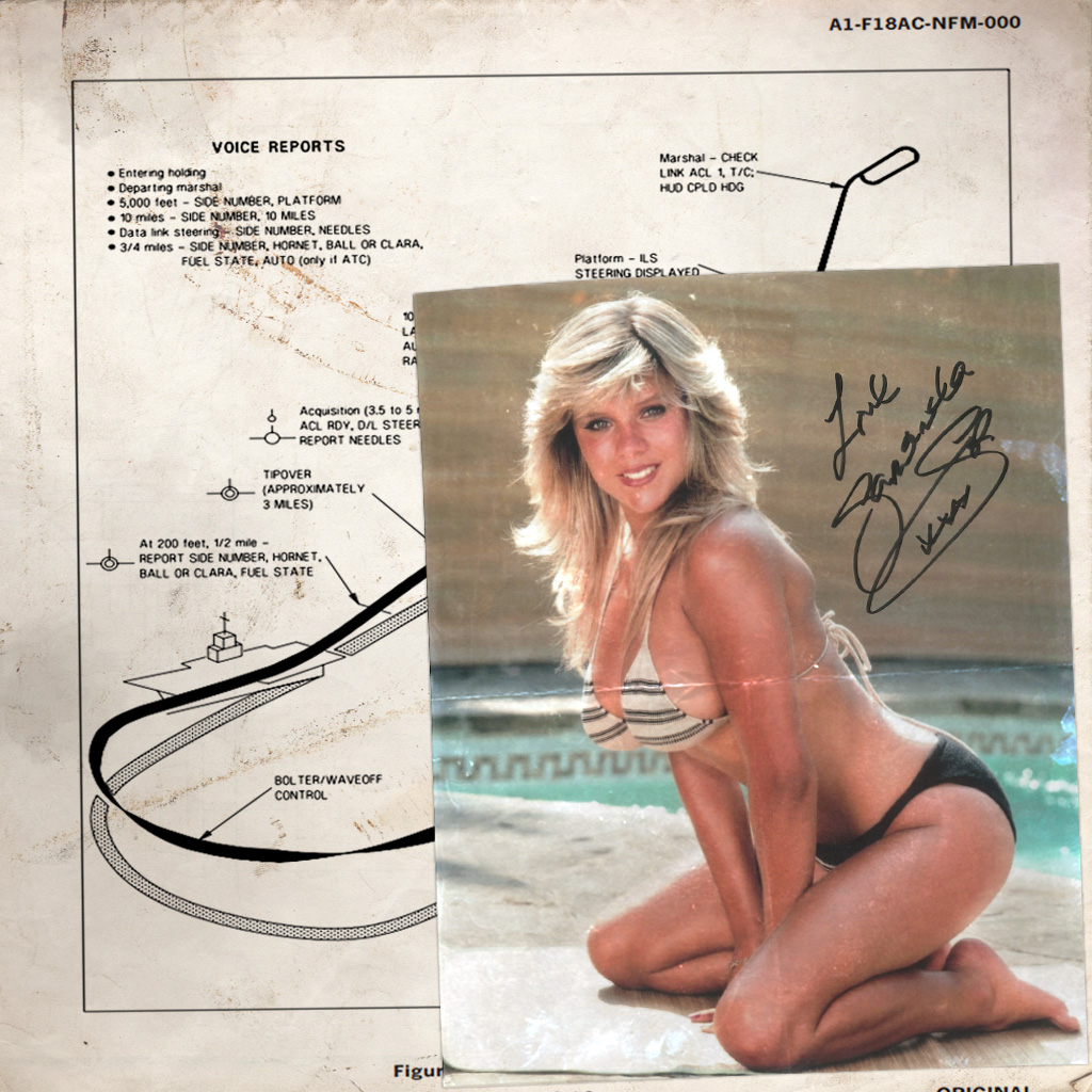F/A-18C Samantha Fox Signed Photo Kneeboard
