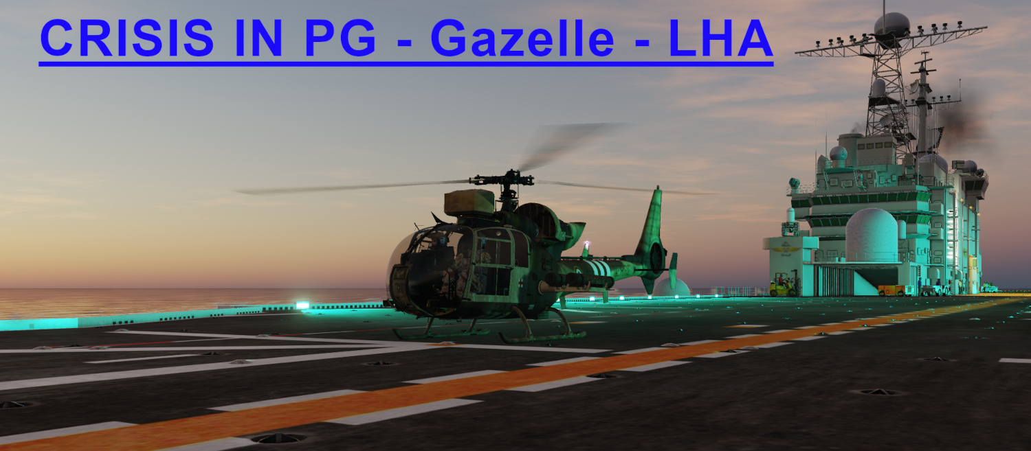 Crisis in Persian Gulf Gazelle LHA Light version using Mbot Dynamic Campaign Engine