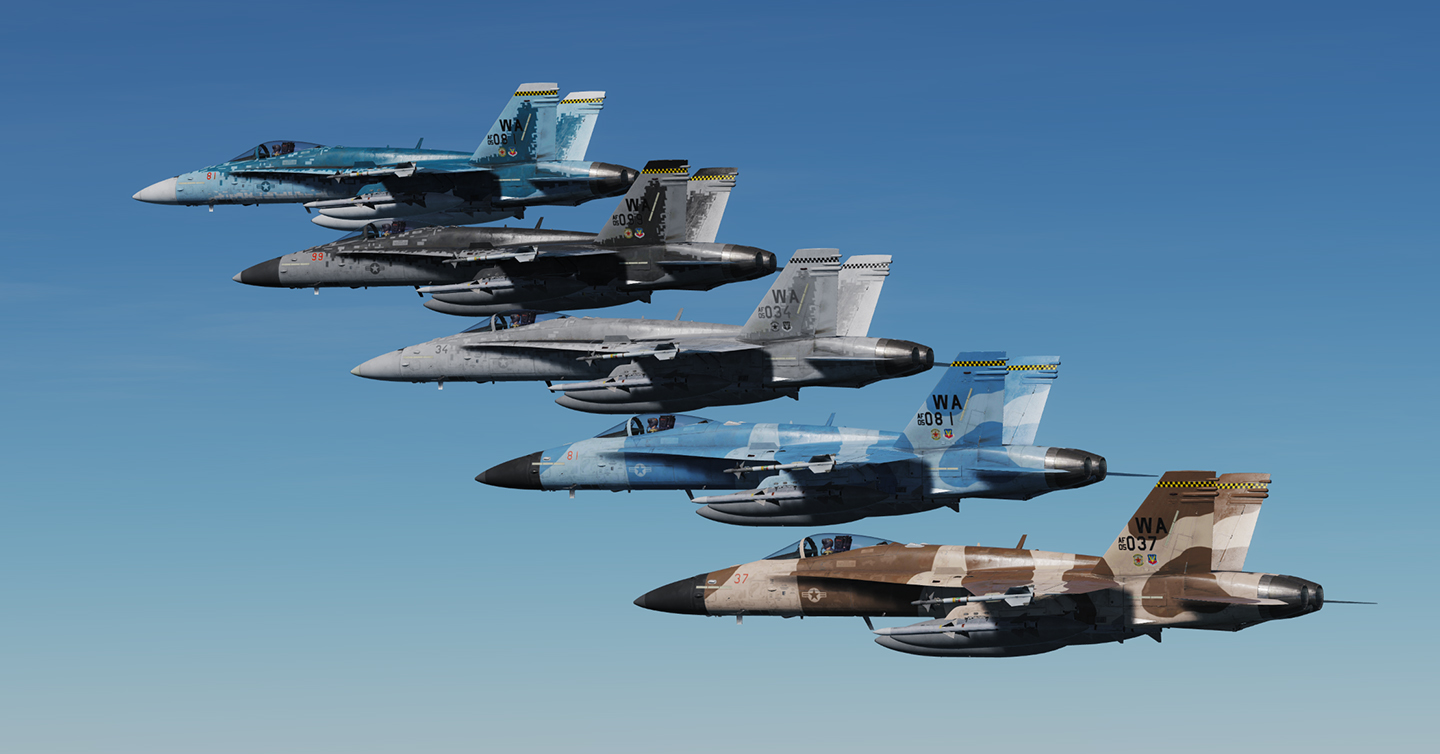F/A-18C - 64th Aggressor Squadron Skin pack