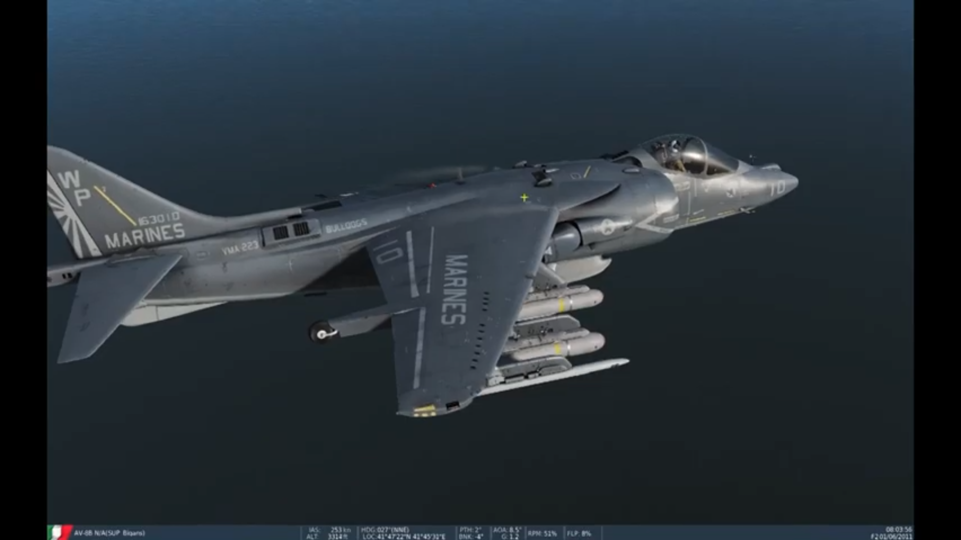 DCS Harrier Sidearm tutorial italiano guida AGM-122 SEAD
