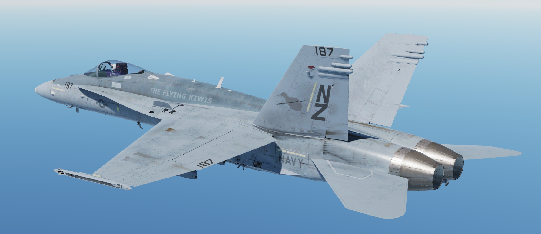 "Official ""The Flying Kiwis"" F/A-18C Low Vis livery by Rhino"