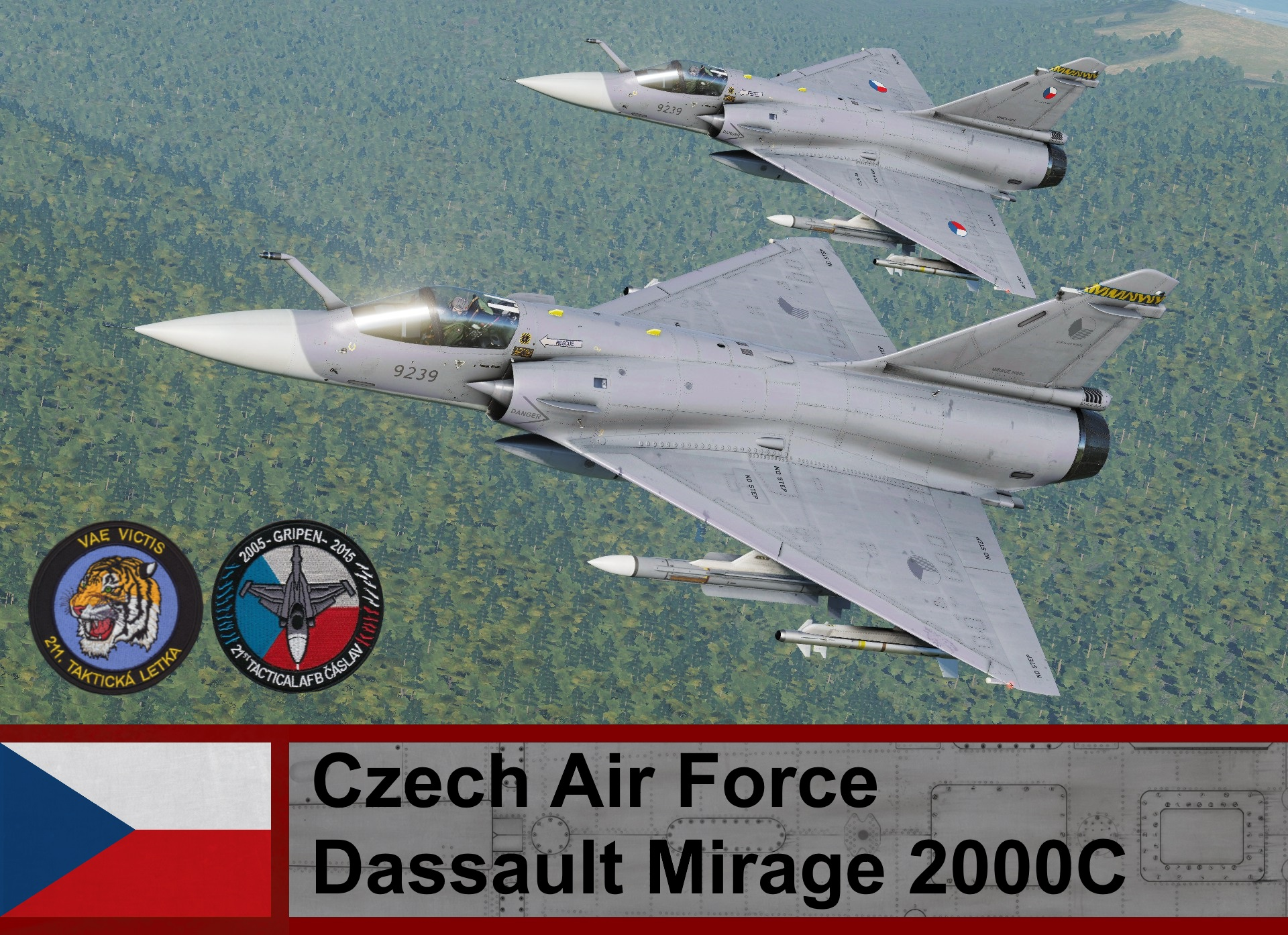 Czech Air Force Mirage-2000C / 211 Squadron (Fictional)