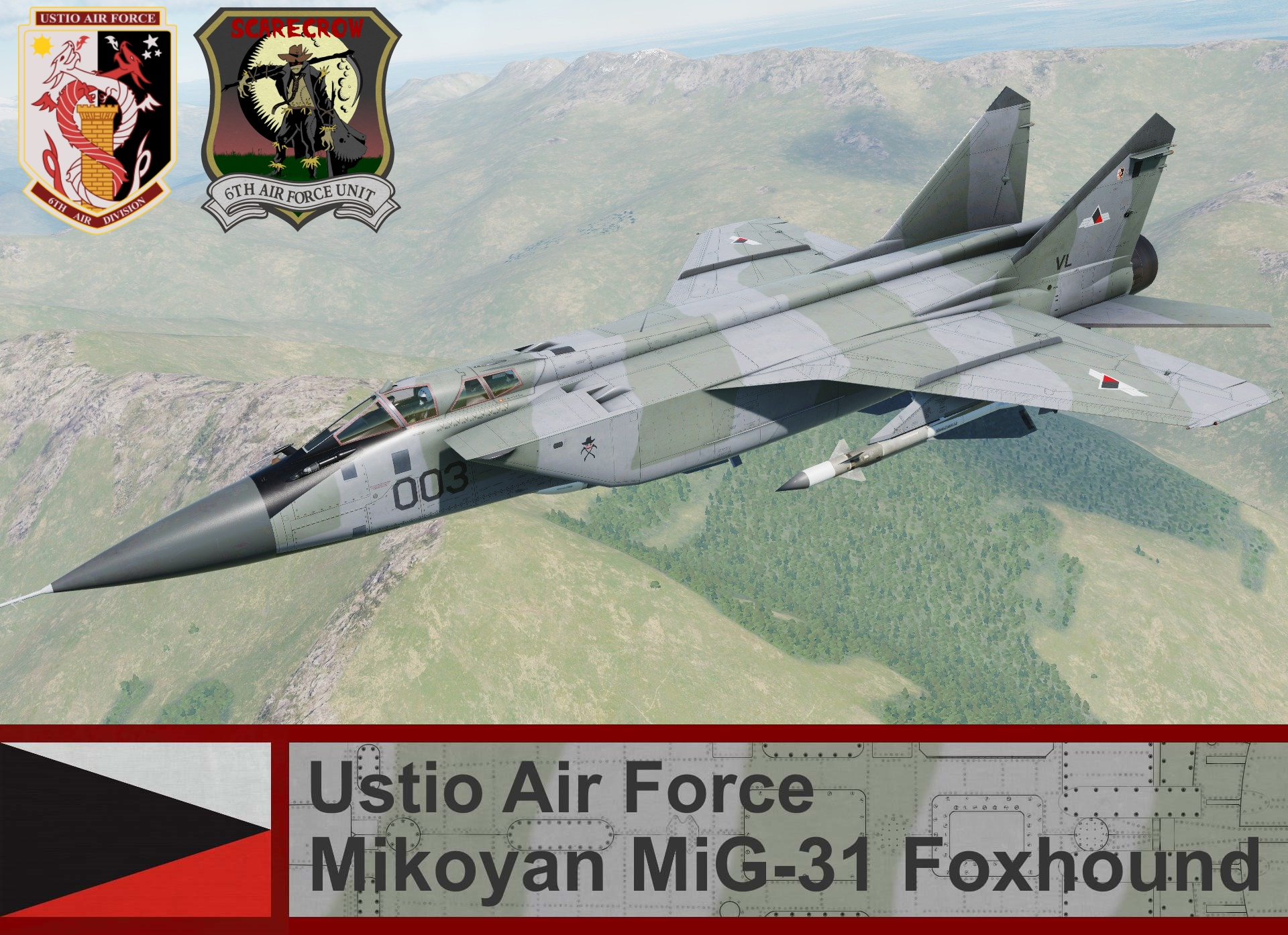 Ustio Air Force MiG-31 Foxhound - Ace Combat Zero (6th AFU)
