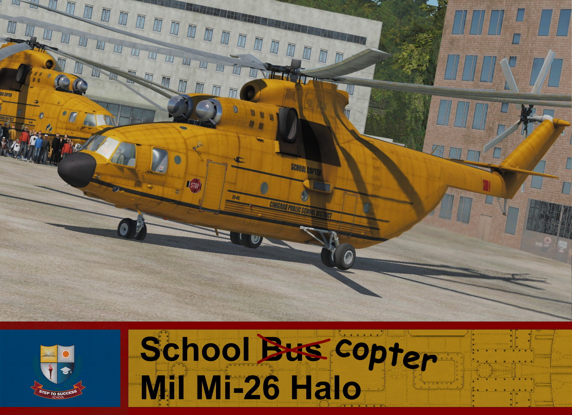 School Helicopter Mi-26 Halo