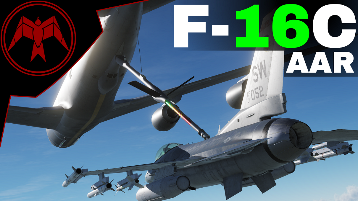 F-16C Air refuelling practice mission