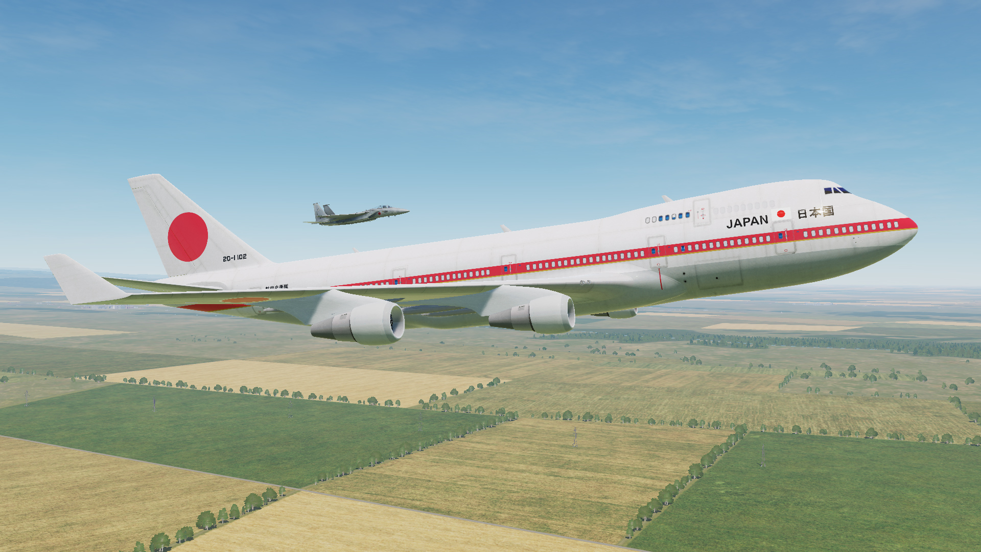 JASDF Special Airlift Group B747-400 Skin Pack for Civil Aircraft Mod