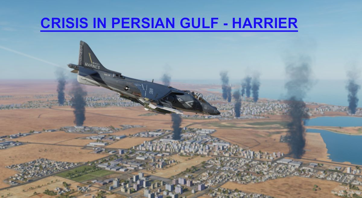Crisis in Persian Gulf Harrier LHA Light version using Mbot Dynamic Campaign Engine