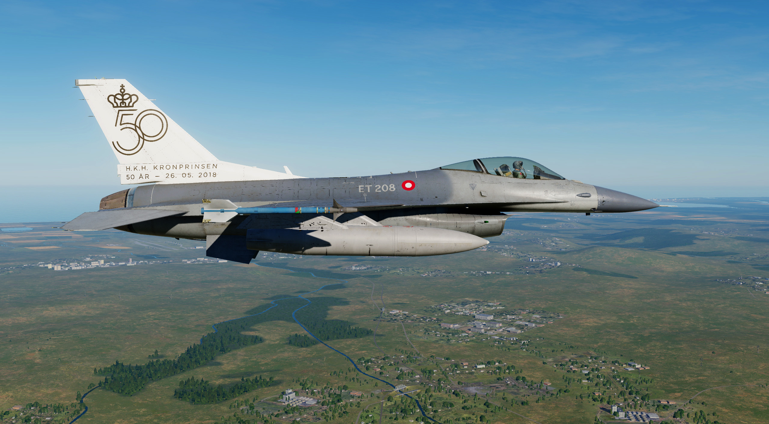 RDAF F-16BM Fighting Falcon ET 208 HKH Kronprinsen 50 years