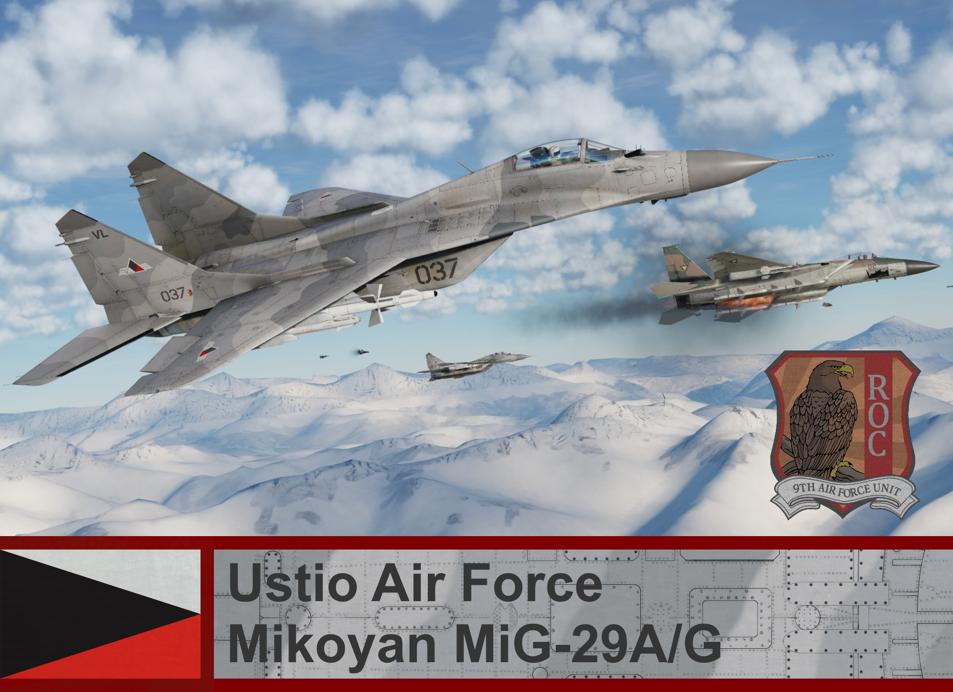 Ustio Air Force Mig-29A/G - Ace Combat Zero (09th AFU)