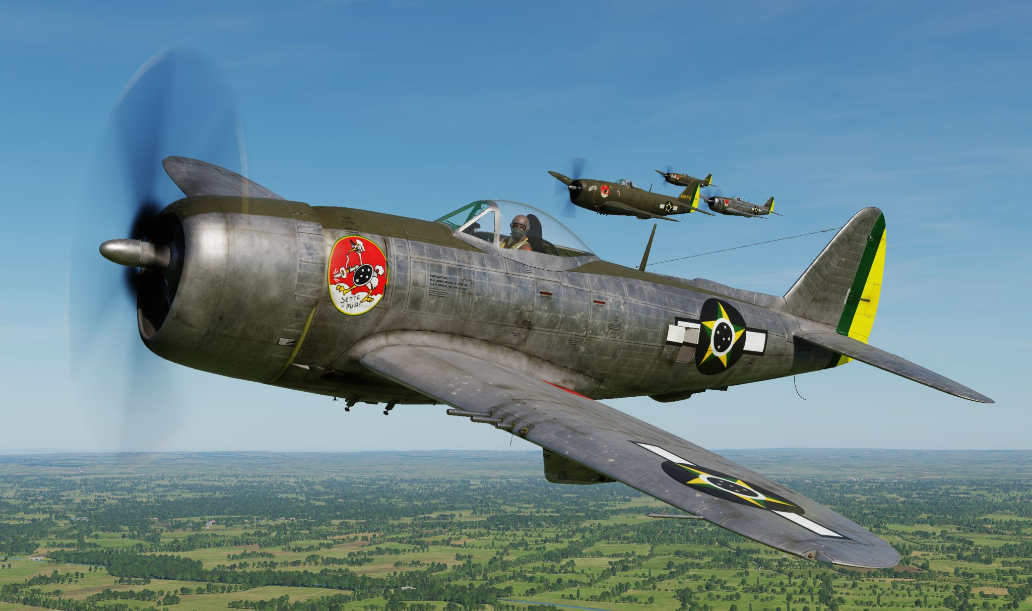 P-47D - 1st Brazilian Fighter Squadron - Jambock - Generic Silver S/N 44-20801 (update vs 2.2)