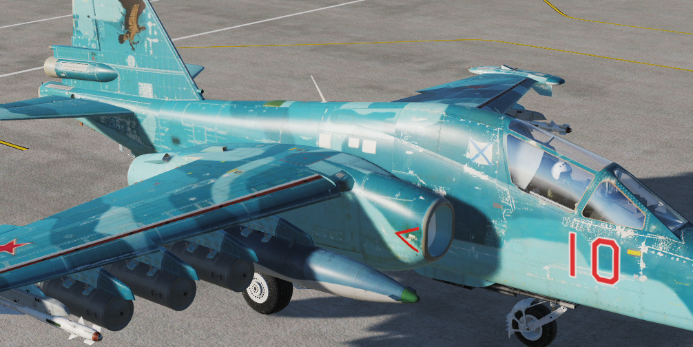 Окрас Су-25Т ВМФ 279-ого полка 2-ого Звена (Вымешленная)  Color of the Su-25T Navy of the 279th Regiment of the 2nd Link (Mixed)