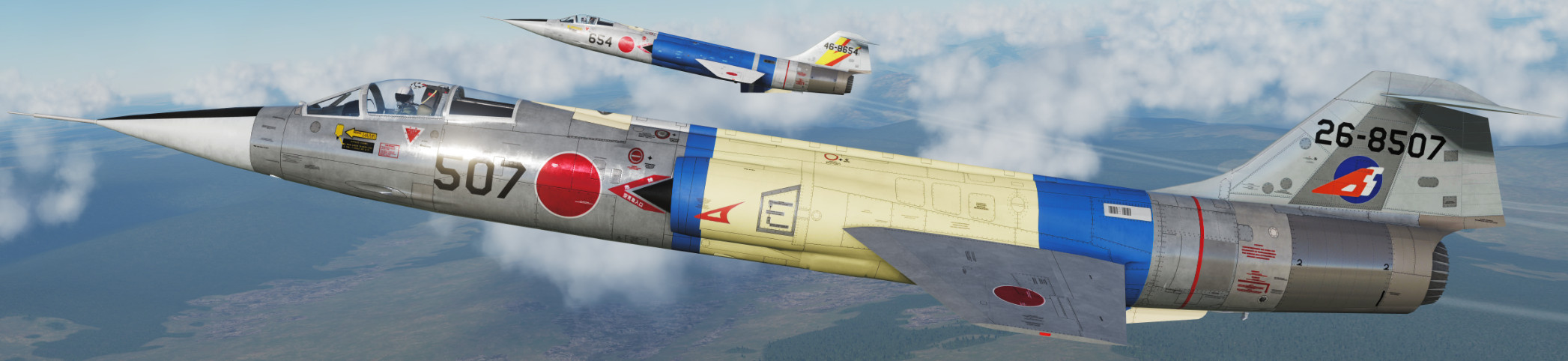 2 JASDF F-104J skins for the F-104G by VSN