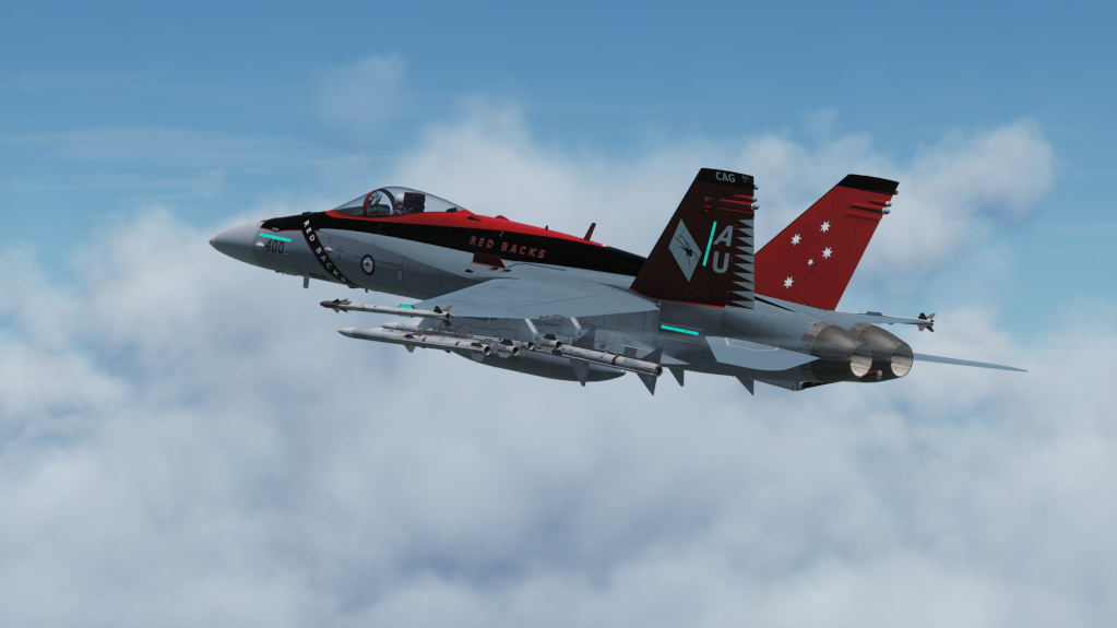 "RAAF F/A-18 ""Red Backs"" livery"