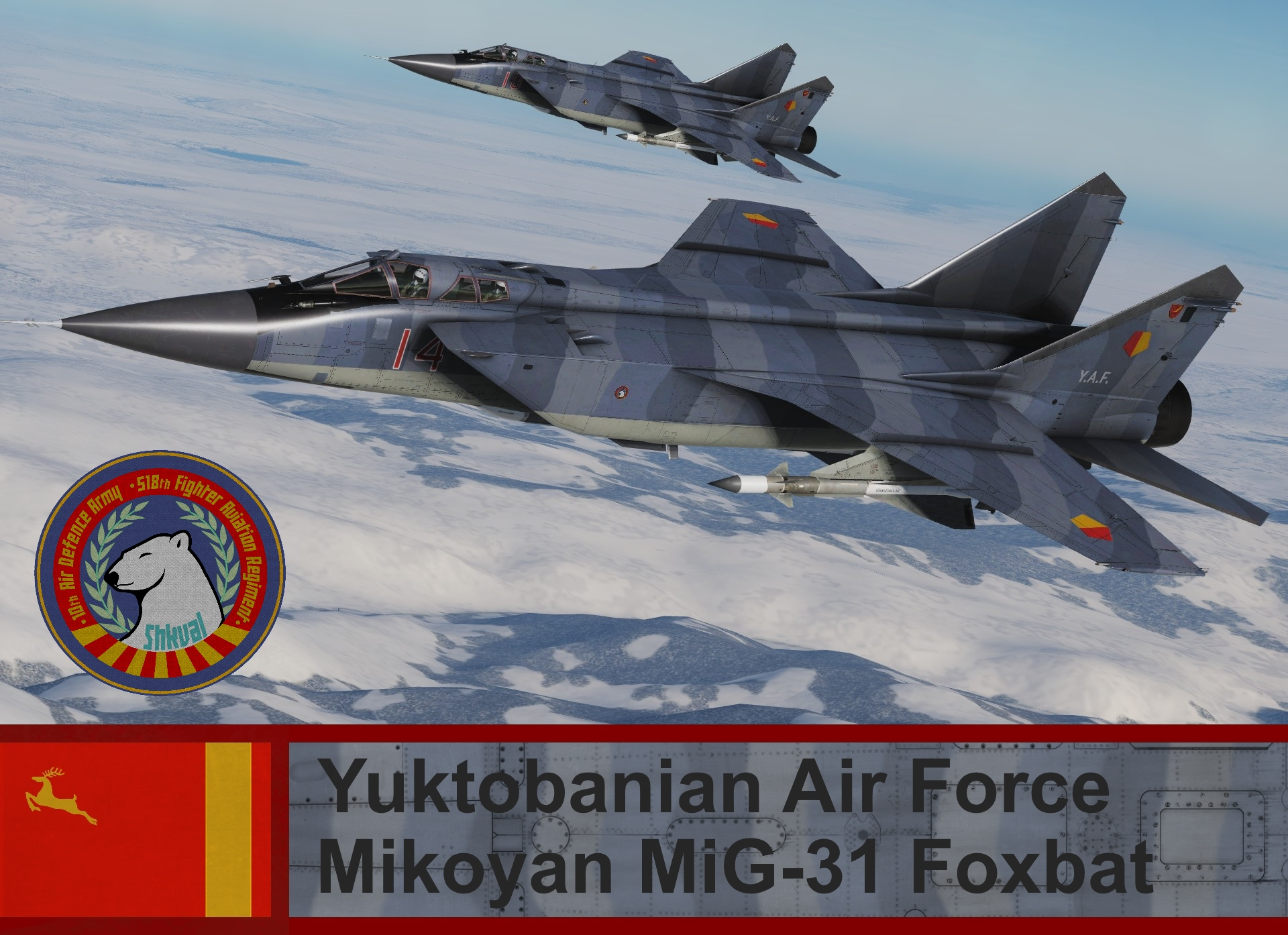 Yuktobanian Air Force Mikoyan MiG-31 Foxbat - Ace Combat (518th FAR)