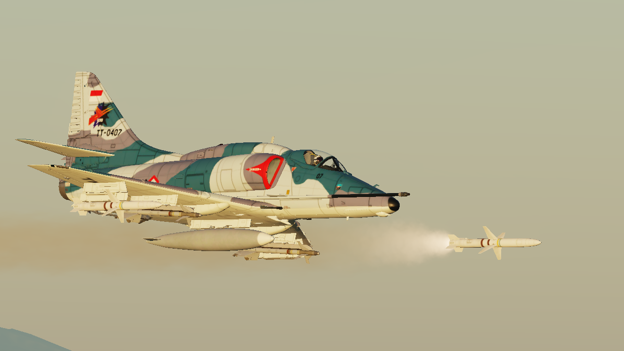 Indonesian Air Force A-4E Late '80 TT-0407 Livery