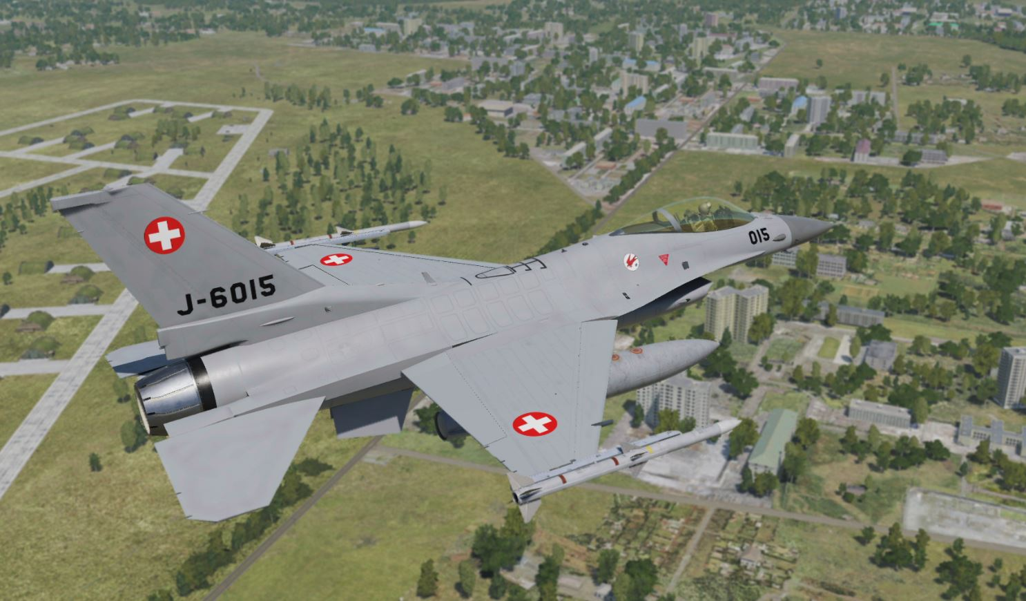 F-16 Fictional swiss air force paint