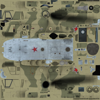 Texture template of Mi-8 model