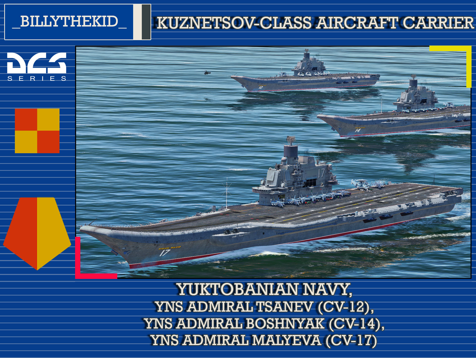 Supercarrier Skin // Ace Combat - Yuktobanian Navy Admiral Kuznetsov Class Carrier Pack