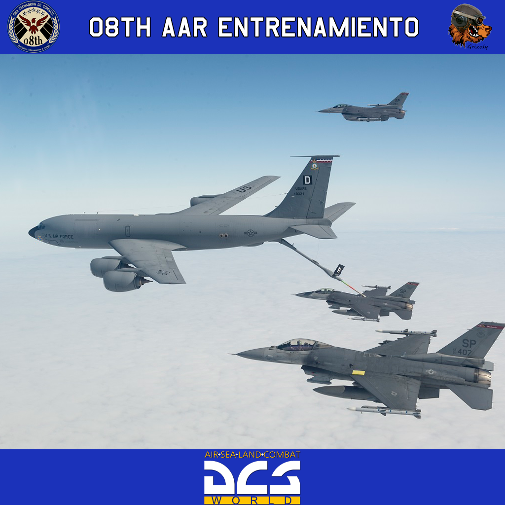 08th Escuadron de Combate AAR (repostaje en vuelo) Entrenamiento Single/Multiplayer